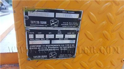 TAYLOR DUNN STOCK CHASER PICKER STOCKCHASER INDUSTRIAL LARGE UTILITY FLAT BED MODEL 1159 SC
