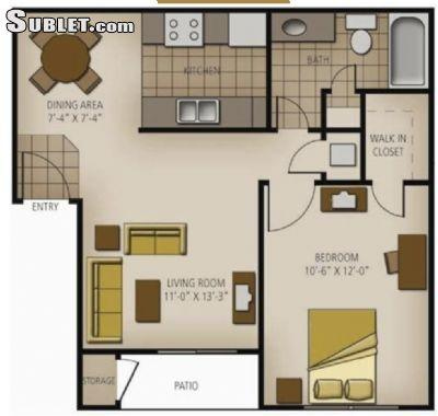 $844 One bedroom Apartment for rent