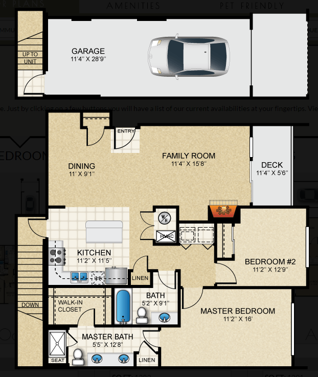 $1761 Two bedroom Apartment for rent