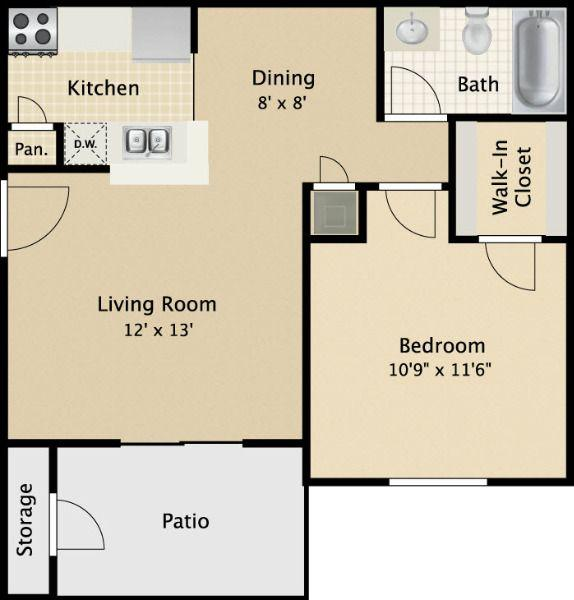 $705 One bedroom Apartment for rent