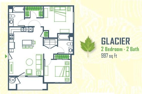 $1706 Two bedroom Apartment for rent