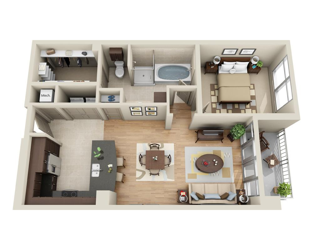 $2834 One bedroom Apartment for rent
