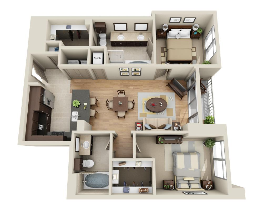 $3918 Two bedroom Apartment for rent