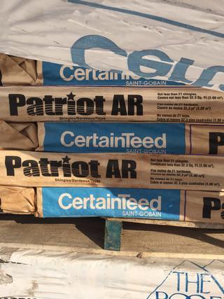 Certainteed Patriot Shingles A-grade with Warranty
