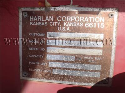 1986 HARLAN HTA 80 CAPACITY 8,000 LBS