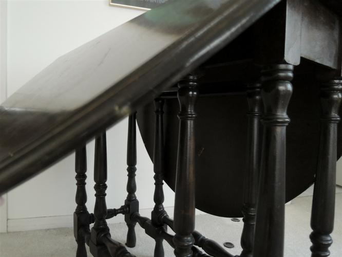 Console Table Drop Leaf Spindle Legs Oak Foyer or Dining Table $650 Value
