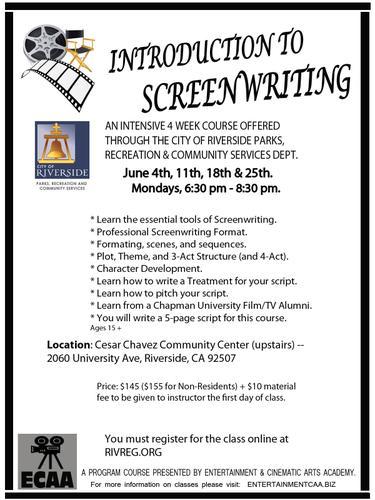 Introduction to SCREENWRITING! Take a Screenwriting course!