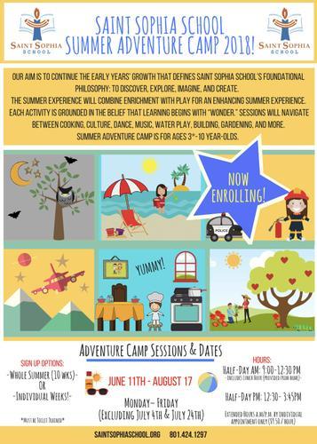 Saint Sophia School Summer Adventure Camp