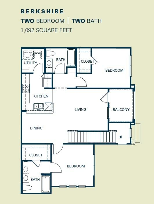 $1274 Two bedroom Apartment for rent