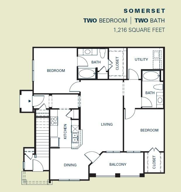 $1259 Two bedroom Apartment for rent