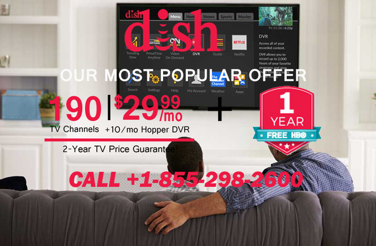 DISH NETWORK FREE VOICE REMOTE & 190 CHANNELS IN HD 1 855 298 2600