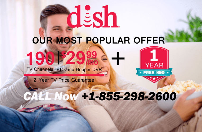 DISH NETWORK FREE AMAZON ECHO DOT & 190 CHANNELS IN HD  CALL NOW   1 855 298 2600