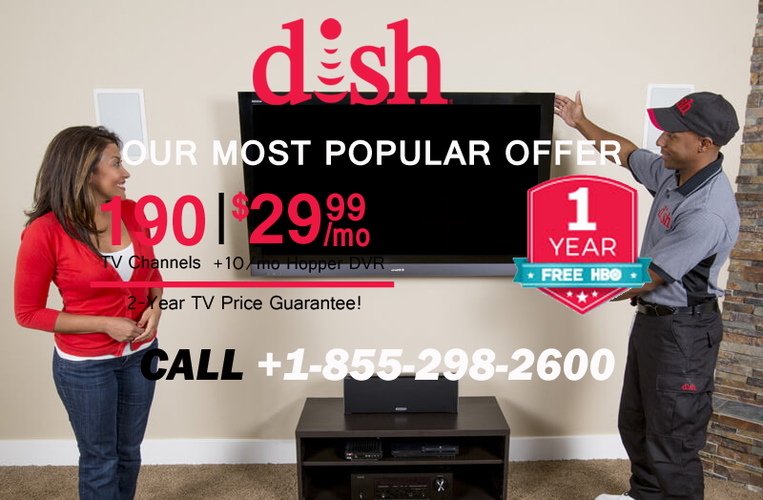 DISH NETWORK SPECIAL OFFER FREE DVR & 190+ CHANNELS IN HD  1 855 298 2600