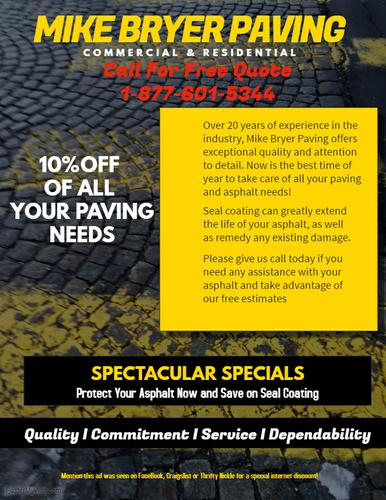 Great Discounts on Asphalt and Paving