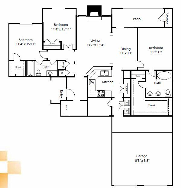 $1816 Three bedroom Apartment for rent