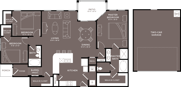 $1919 Three bedroom Apartment for rent