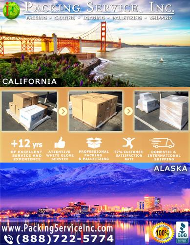 Packing Service, Inc. - Palletizing Services, Palletizing Boxes and Packing - Los Angeles, CA