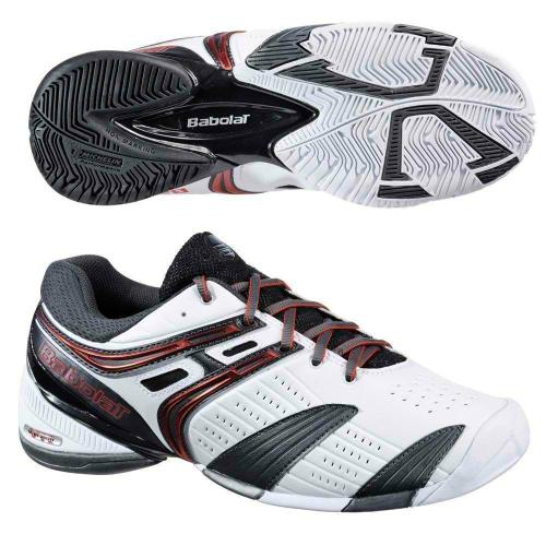 BABOLAT V-PRO ALL COURT MENS TENNIS SHOES WHITE/RED/GREY