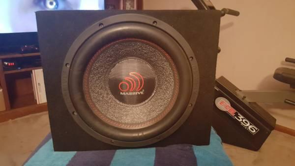 12 inch 4000 watt massive sub in box HIPPOXL122