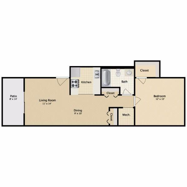 $675 One bedroom Apartment for rent