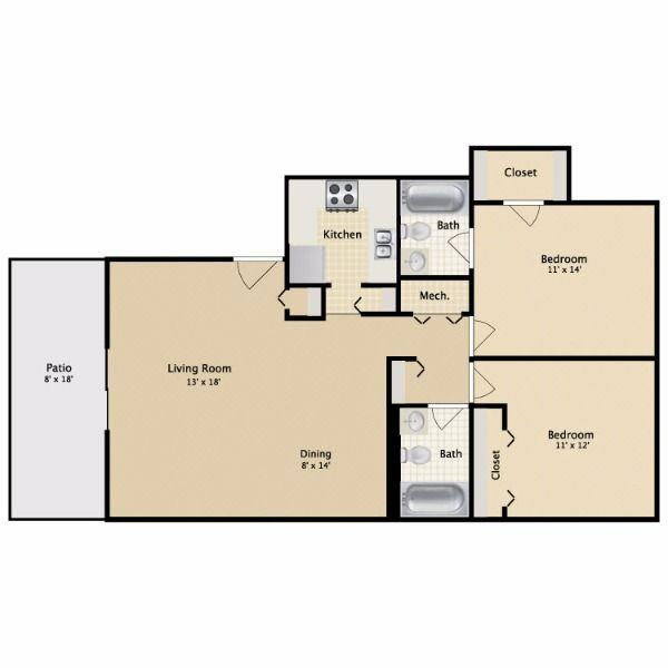 $765 Two bedroom Apartment for rent