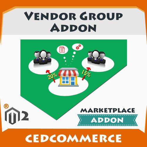 Cedcommerce Marketplace Addon : Vendor Group Magento 2