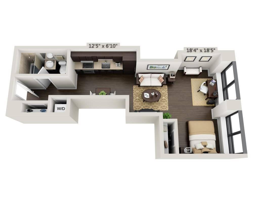 $3330 Studio Apartment for rent