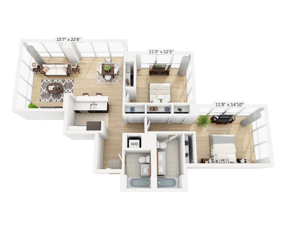 $6950 Two bedroom Apartment for rent