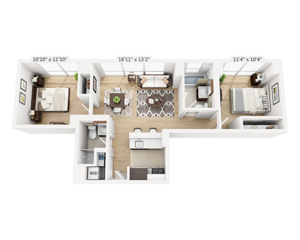 $5605 Two bedroom Apartment for rent