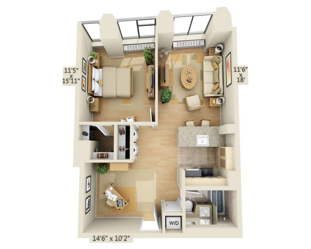 $4070 One bedroom Apartment for rent