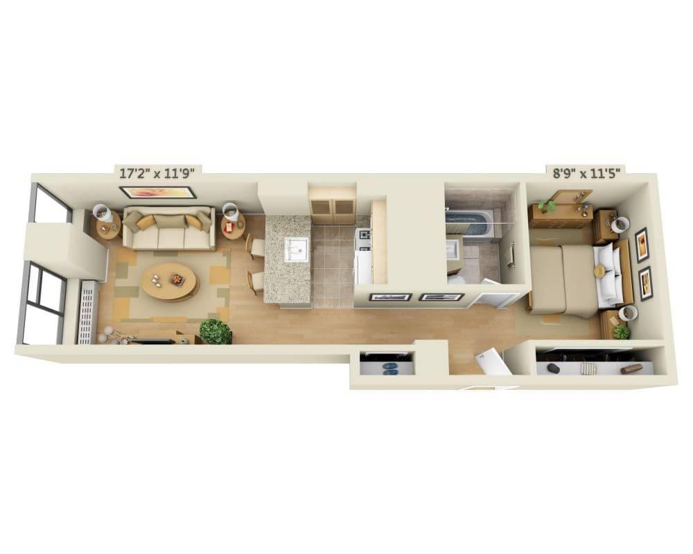$3209 Studio Apartment for rent