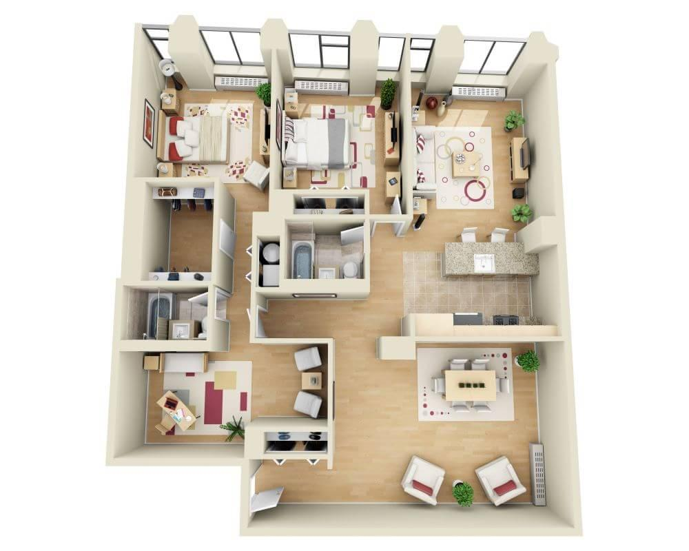 $6933 Two bedroom Apartment for rent