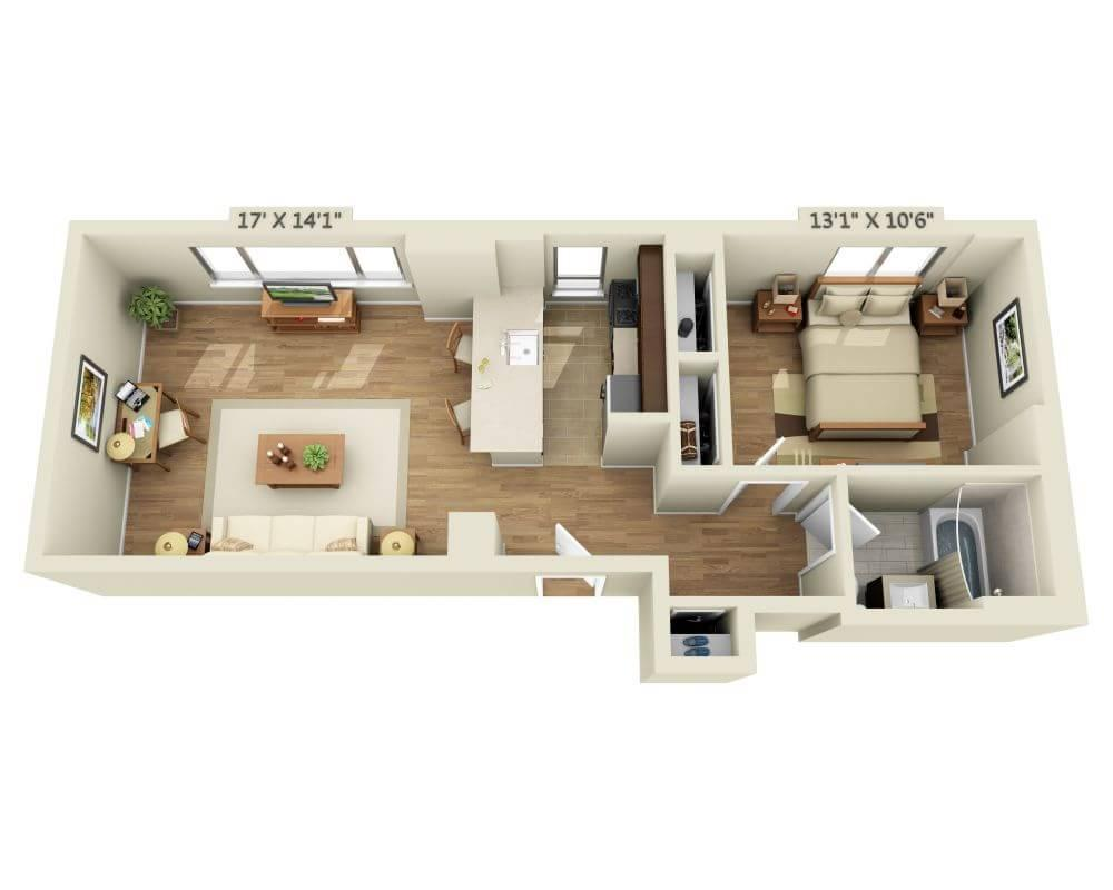 $4799 One bedroom Apartment for rent