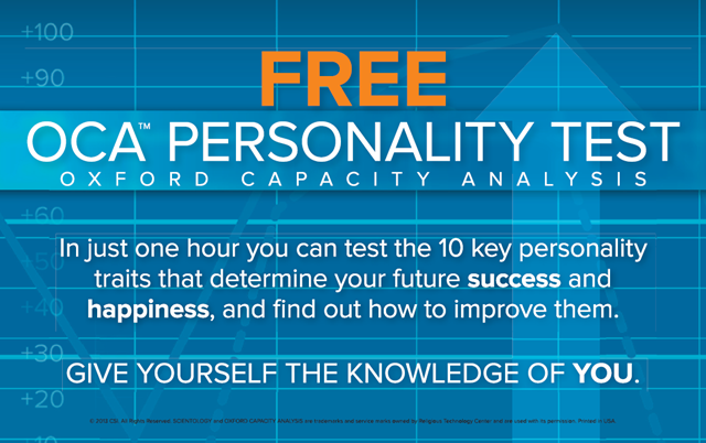 Come for a Free Personality Test!