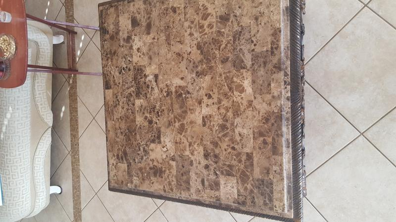 Marble top/wood coffee table set