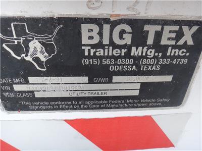1991 BIG TEX 24' FLATBED TILT TRAILER