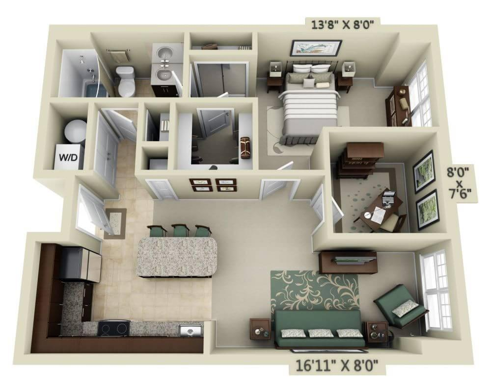 $1744 One bedroom Apartment for rent