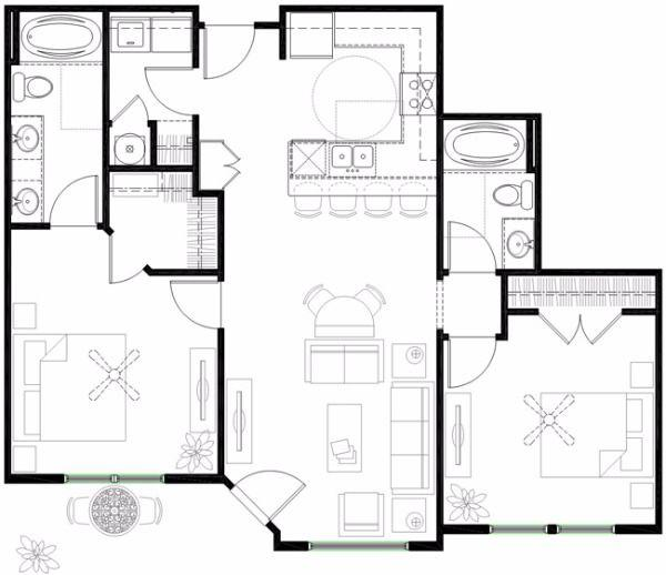 $1211 Two bedroom Apartment for rent