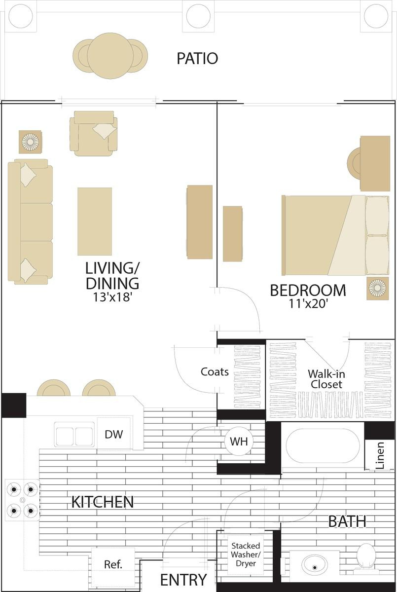$5880 One bedroom Apartment for rent