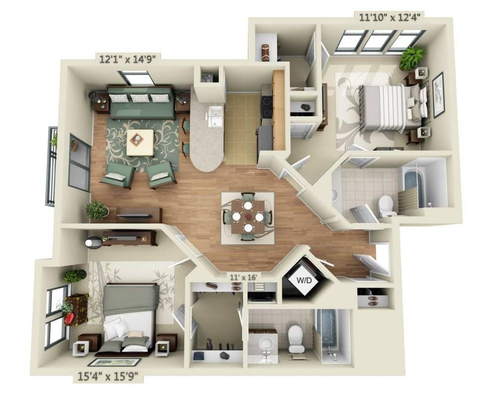 $2601 Two bedroom Apartment for rent