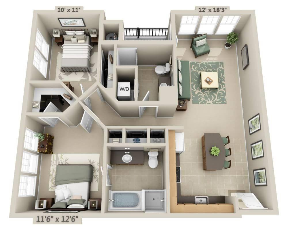 $1533 Two bedroom Apartment for rent