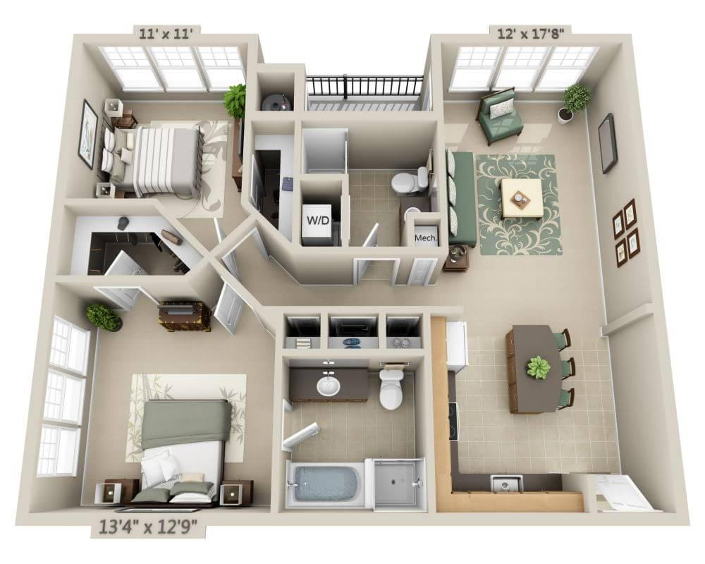 $1648 Two bedroom Apartment for rent