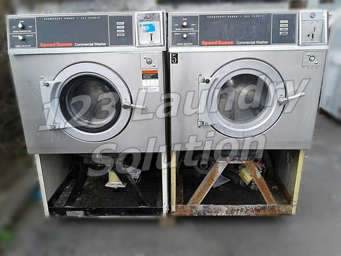 Speed Queen Front Load Washer Super II   20 25LB Capacity Stainless Steel AS-IS