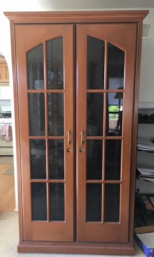 French Riviera Window 360+ Bottle Cherry Wood Wine Refrigerator