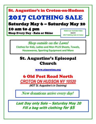 Outdoor Rummage Sale- St. Augustine's Croton on Hudson