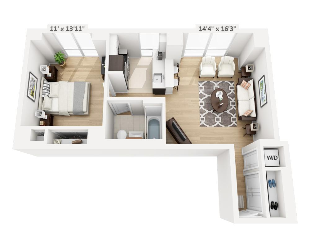 $3845 One bedroom Apartment for rent