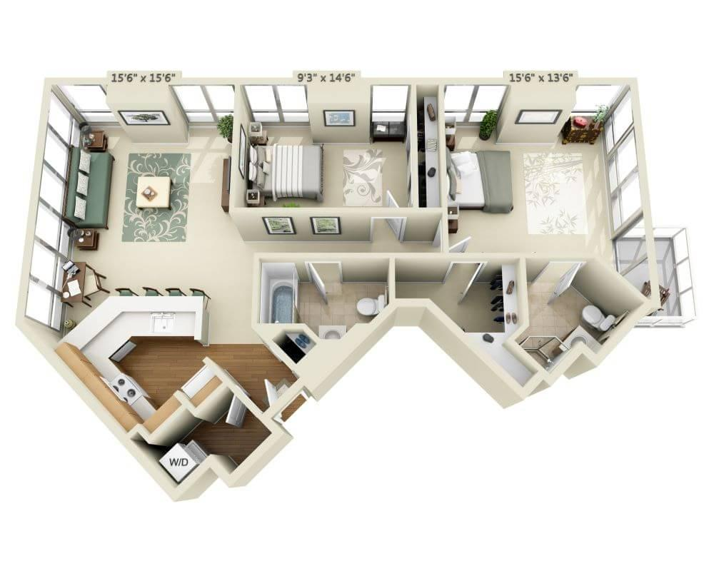 $5897 Two bedroom Apartment for rent