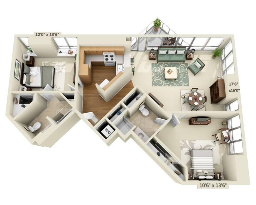 $4780 Two bedroom Apartment for rent