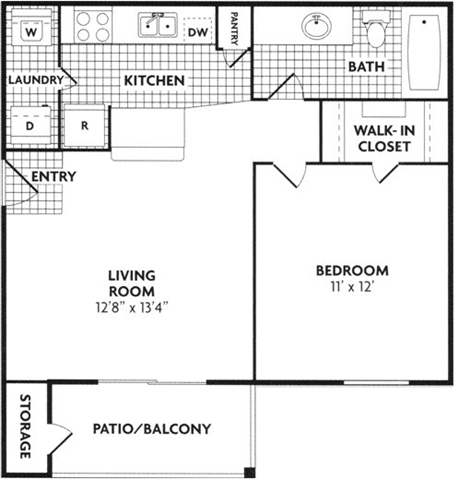 $1119 One bedroom Apartment for rent