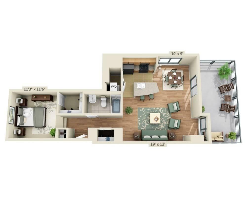 $2093 One bedroom Apartment for rent